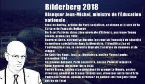 Mais que fait un ministre de l'Éducation nationale, Jean-Michel Blanquer, à une réunion du Groupe Bilderberg !?