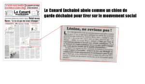 Initiative Communiste prend du galon – À propos d'un article du Canard Enchaîné