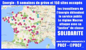 Énergie: 150 sites occupés, 9 semaines de grève. Face à la mobilisation qui monte, la répression judiciaire anti-syndicale !
