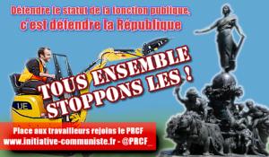 Défendre le statut de la fonction publique, c'est défendre la République. par Benoit Foucambert