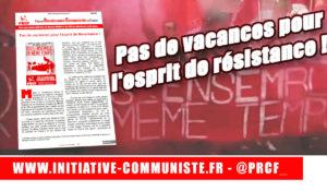 #manif28juin Pas de vacances pour l'esprit de résistance ! #tract