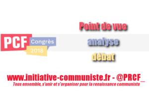 À propos des positionnements divers au sein du PCF-PGE à l'approche de son 38ème congrès