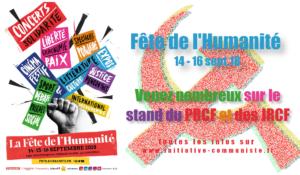 Dans deux semaines, la fête de l'Huma : venez nombreux au stand du PRCF ! #programme