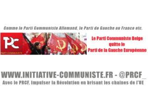 Le Parti Communiste Belge quitte le PGE… Le PCF toujours plus isolé !