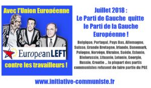 Le Parti de Gauche quitte le Parti de la Gauche Européenne
