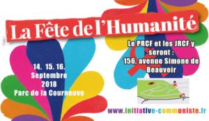 Fête de l'HUMA 2018 : Débats politiques organisés par le PRCF