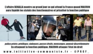 #affaireBenalla est révélatrice de ce que serait le monde sans fonctionnaires que veut #Macron #AP2022