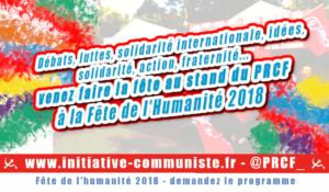 Fête de l'Humanité 2018 : le clip du programme du stand du PRCF et des JRCF