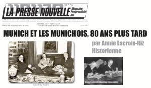 MUNICH ET LES MUNICHOIS, 80 ANS PLUS TARD – par Annie Lacroix-Riz
