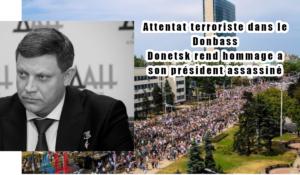 Attentat terroriste à Donetsk : A. Zakhartchenko assassiné