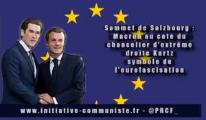 Sommet de Salzbourg : Macron, Kurz, Brexit et UE.