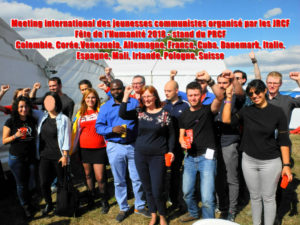 #JRCF : Meeting International de la jeunesse communiste – Fête de l'Huma 2018