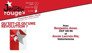 Qu'est ce qu'une révolution ? conférence d'Annie Lacroix Riz le 28.11.18 à Paris