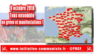 Tous en grève ce 9 octobre : la carte des manifestations à Paris et partout en France !