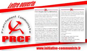 Lettre ouverte au citoyen Mélenchon #PRCF