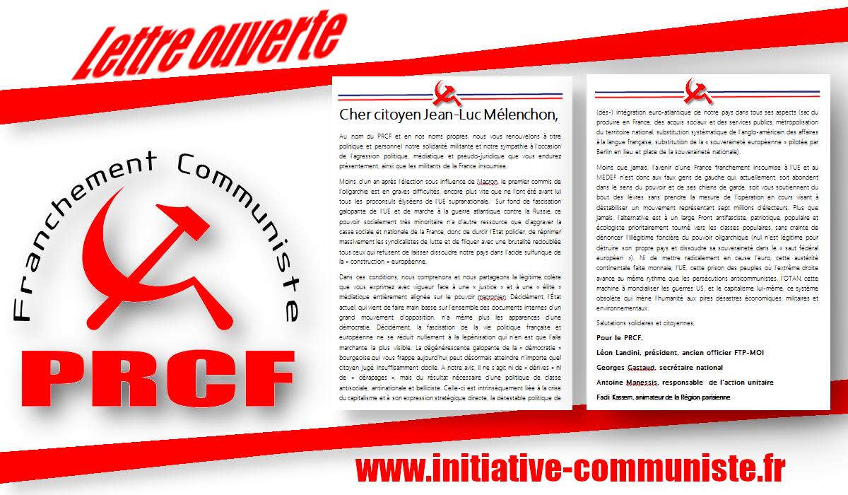 Lettre ouverte au citoyen Jean-Luc Mélenchon
