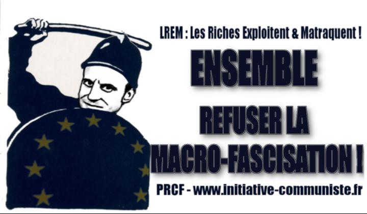 Gilets Jaunes : appel au rassemblement contre les violences policières le 2 février Macron-fascisation-720x420