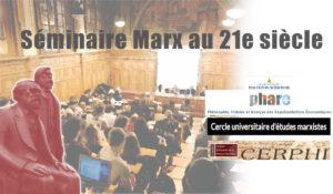 Sorbonne – 17.10.18- nouvelle conférence du Séminaire Marx au 21e siècle
