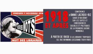 1918 et après – conférence d'Annie Lacroix-Riz #Paris 9 nov. 2018