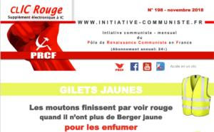 CLIC Rouge 198  – votre supplément électronique gratuit à Initiative Communiste [novembre 2018]
