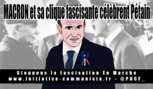 Macron en se mettant au garde à vous devant Pétain rend l'hommage de l'oligarchie à un de ses collaborateurs en chef !