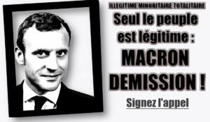 Seul le peuple est légitime : MACRON DÉMISSION ! Appel Pétition #giletsjaunes