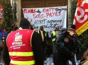 La parole aux grévistes du Park Hyatt Vendome – soutenez les  ! #vidéo