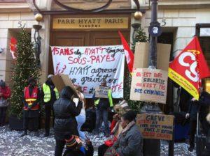 Park Hyatt Vendôme : 87 jours de grève pour la victoire !
