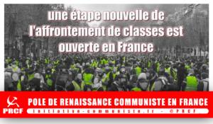 #GiletsJaunes – L' heure des choix de classe, pour les syndicalistes et tous les travailleurs !