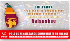 """Sri Lanka : """"Laissons la souveraineté du peuple prévaloir"""" l'appel du premier ministre Rajapakse"""