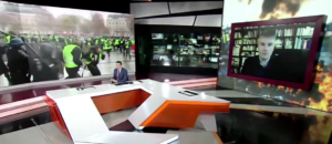 #GiletsJaunes notre camarade Aymeric Monville explique la situation sur Russia Today international