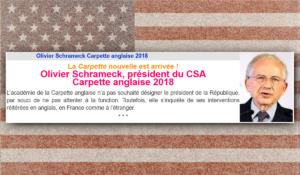 Le président du CSA prix de la carpette anglaise