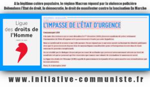 La tentation de l'état d'urgence ? la fascisation en marche avec Macron