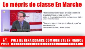 Les français sont intelligents. Ils comprennent le mépris de classe En Marche.
