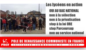 Réforme Blanquer, Parcoursup, «Choose France»… : Les lycéens mobilisés contre la régression !