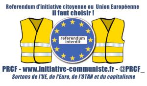#RIC le referendum une proposition portée par le PRCF… depuis 2012, mais qui nécessite de sortir de l'UE.