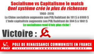 Socialisme vs Capitalisme, quel système économique est le plus performant ? le socialisme gagne par 4 à 0 !