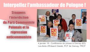 Procès politique en Pologne contre le KPP et le journal Brzask : appel à la solidarité et à interpeler l'ambassadeur de Pologne