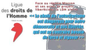 La Ligue des Droits de L'Homme et Amnesty International alertent contre les violations des droits de l'Homme par le régime Macron.
