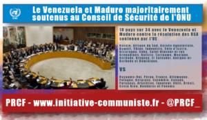 Le Venezuela Bolivarien obtient le soutien de la majorité du conseil de sécurité de l'ONU