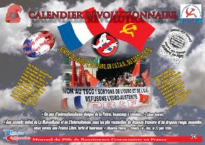 Achetez le calendrier 2019 des évènements révolutionnaires