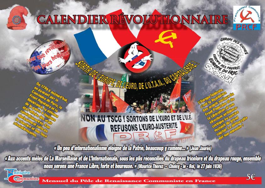 Achat Calendrier 2019.Achetez Le Calendrier 2019 Des Evenements Revolutionnaires