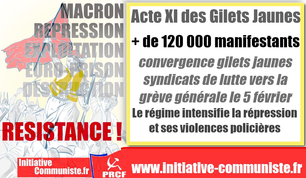 foto de #ActeXI des #GiletsJaunes : La violence d'état mutile et