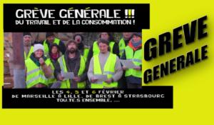 L'appel des ronds points à la grève générale #5février #grèvegénérale #giletsjaunes