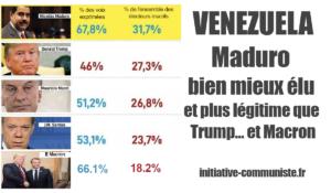 Maduro bien mieux élu et plus légitime que Trump… et Macron