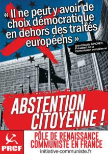 Sortez des traités, stupides ! dit Jean Luc Mélenchon. Pour s'en sortir, sortir de l'UE !