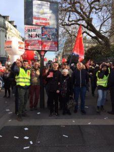 #5fevrier Forte mobilisation pour la convergence des luttes et la grève générale