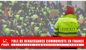 Soutenir les  revendications sociales et démocratiques des Gilets jaunes ou la « Construction européenne », il faut choisir !