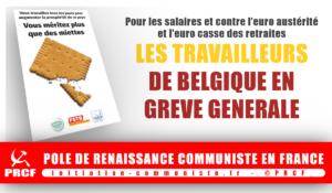 Grève Générale en Belgique pour augmenter les salaires !