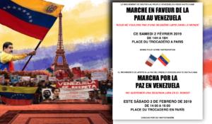 #Paris Marche pour la paix au #Venezuela : 14h – place du Trocadero